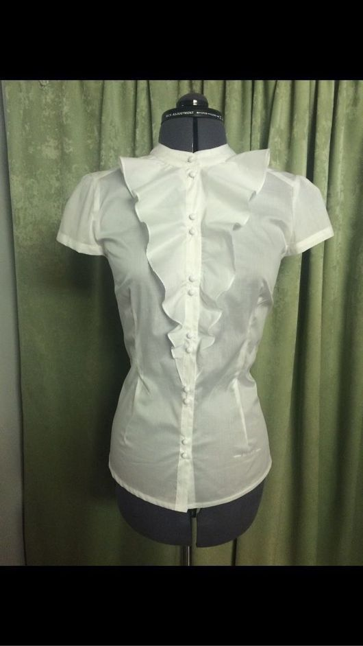 Блузки ручной работы. Ярмарка Мастеров - ручная работа. Купить Блузка белая хлопковая. Handmade. Блузка, блузка из шелка