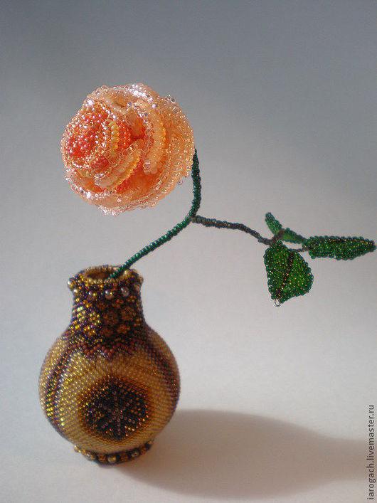 Подарочные наборы ручной работы. Ярмарка Мастеров - ручная работа. Купить Кремовая роза в вазочке. Handmade. Роза, подарок женщине