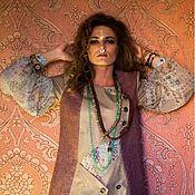 Одежда ручной работы. Ярмарка Мастеров - ручная работа Двубортный жилет - в стиле бохо. Handmade.