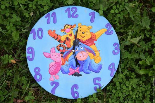 Детская ручной работы. Ярмарка Мастеров - ручная работа. Купить Часы детские настенные. Handmade. Голубой, подарок ребенку