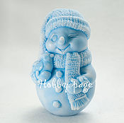 Материалы для творчества handmade. Livemaster - original item Silicone molds for soap Snowman with Snowbird. Handmade.