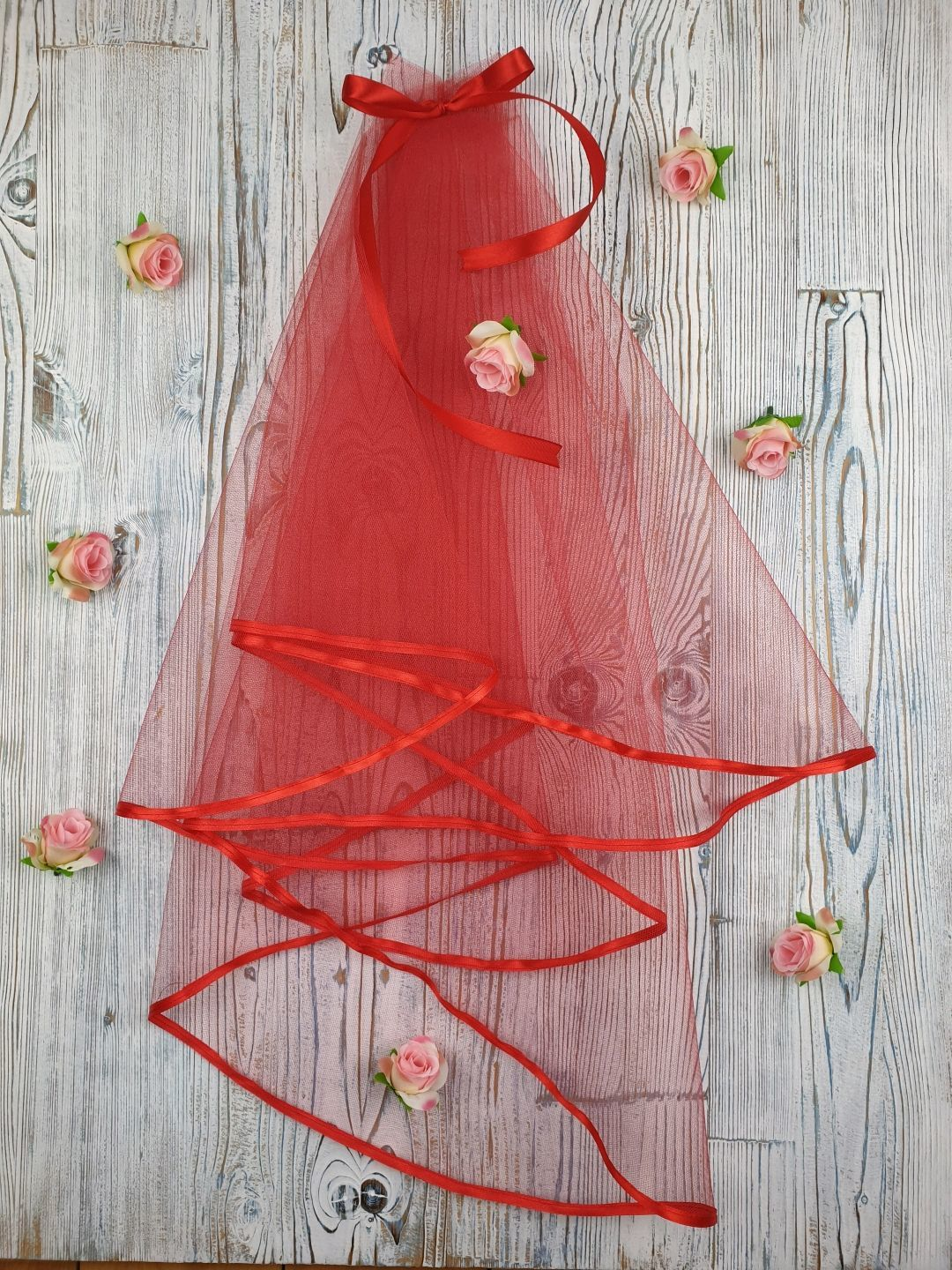 Clothing & Accessories handmade. Livemaster - handmade. Buy Veil for bachelorette party red.Red