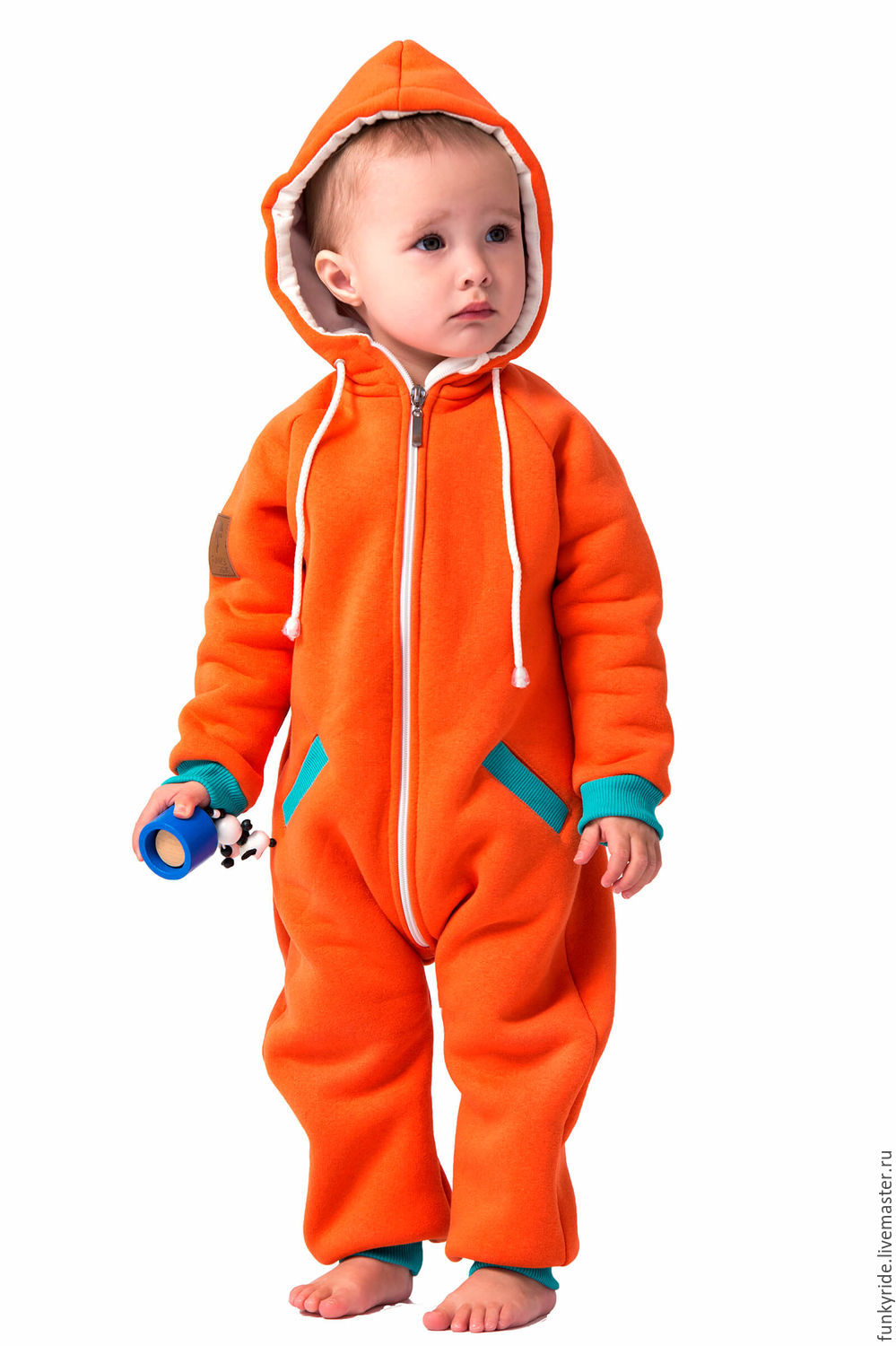 115e7a270 Romper baby SWEETSUIT SPORT ORANGE KIDS – shop online on Livemaster ...
