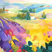 Картины и панно handmade. Livemaster - original item Pictures: Lavender field. Handmade.