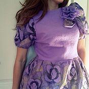 """Одежда ручной работы. Ярмарка Мастеров - ручная работа платье валяное """"Muse spring"""". Handmade."""