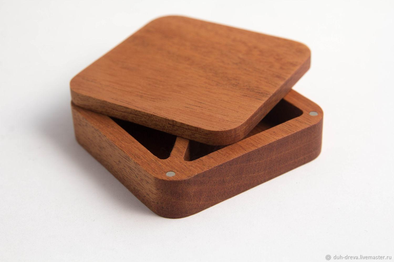 Wedding square ring box, Caskets for rings, Vladimir,  Фото №1