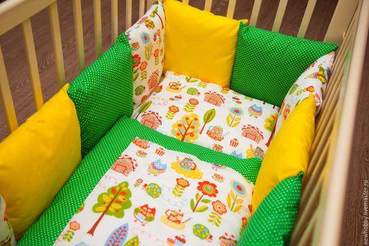 Для новорожденных, ручной работы. Ярмарка Мастеров - ручная работа. Купить Комплект в детскую кроватку СКАЗКА, 6 предметов. Handmade.