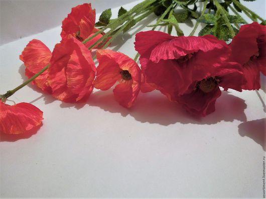 Материалы для флористики ручной работы. Ярмарка Мастеров - ручная работа. Купить Мак 80 см. Handmade. Искусственные цветы, мелкоцвет