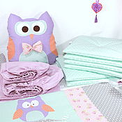 Для дома и интерьера ручной работы. Ярмарка Мастеров - ручная работа Набор для детской кроватки и люльки. Handmade.