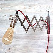 Бра ручной работы. Ярмарка Мастеров - ручная работа Настенный светильник - бра в стиле Лофт (Loft), Ретро, Винтаж. Handmade.