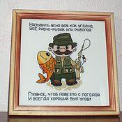 Картины и панно ручной работы. Ярмарка Мастеров - ручная работа Рыбачек для настроения. Handmade.