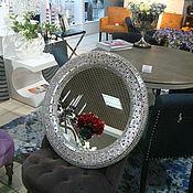 Для дома и интерьера handmade. Livemaster - original item Mirror in mosaic frame, titanium glitter. Handmade.