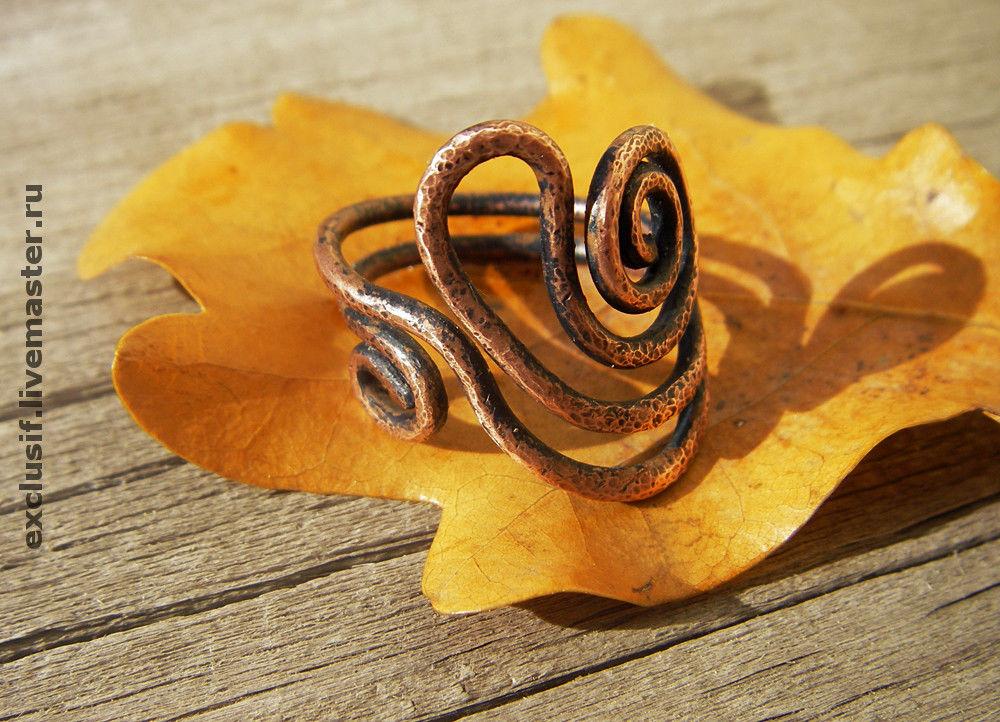"""Кольца ручной работы. Ярмарка Мастеров - ручная работа. Купить Кольцо из меди """"Гармония"""". Handmade. Этно, эксклюзив, медное кольцо"""