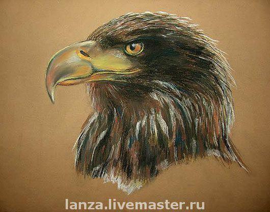 """Животные ручной работы. Ярмарка Мастеров - ручная работа. Купить Картина """"Хищник"""". Handmade. Орел, птица, хищник, пастель"""