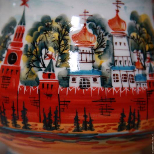 """Сервизы, чайные пары ручной работы. Ярмарка Мастеров - ручная работа. Купить Сервиз чайный """"Кремль. Москва"""" /авторская роспись/. Handmade."""