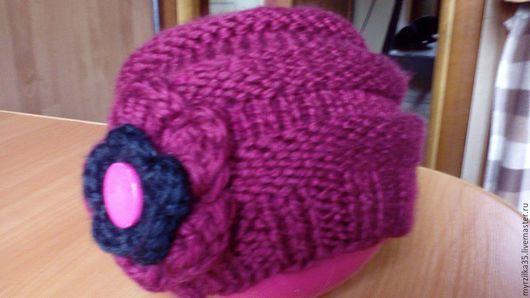 Шапки ручной работы. Ярмарка Мастеров - ручная работа. Купить стильная шапочка для девочки. Handmade. Фуксия, шапка вязаная, шапочка