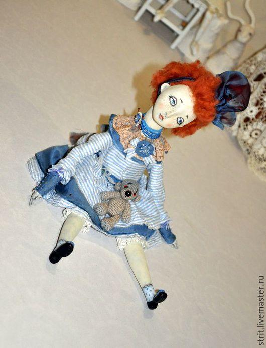 Коллекционные куклы ручной работы. Ярмарка Мастеров - ручная работа. Купить Клодильда. Подвижная кукла.. Handmade. Рыжий