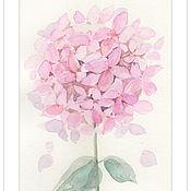 """Картины и панно ручной работы. Ярмарка Мастеров - ручная работа Акварель """"Нежный цветок"""". Handmade."""