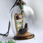 """Украшения ручной работы. Ярмарка Мастеров - ручная работа Кулон с микроминиатюрой """"Зельеваренье"""" - стеклянный купол. Handmade."""