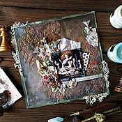 Канцелярские товары handmade. Livemaster - original item Canvas, 20h20, with an eyelet for hanging. Handmade.