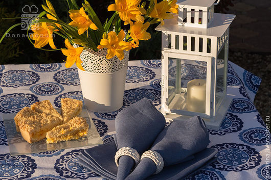 """Текстиль, ковры ручной работы. Ярмарка Мастеров - ручная работа. Купить """"Голландская история"""". Handmade. Тёмно-синий, голландия, подарок"""