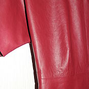 Одежда handmade. Livemaster - original item Leather dress cranberry color. Handmade.