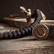 Сувениры и подарки handmade. Livemaster - original item Bronze compass bead, paracord bead, wind rose. Handmade.