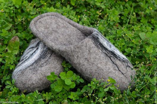 Обувь ручной работы. Ярмарка Мастеров - ручная работа. Купить Тапочки мужские. Handmade. Тапочки ручной, тапочки войлочные