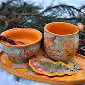Сервизы ручной работы. Ярмарка Мастеров - ручная работа Набор для завтрака Желуди. Handmade.