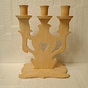 Материалы для творчества handmade. Livemaster - original item Blank for decoupage and painted Chandelier with three horns. Handmade.