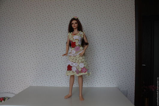 Авторская работа, платье в технике Ирландского кружева