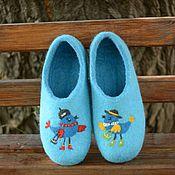 """Обувь ручной работы. Ярмарка Мастеров - ручная работа Валяные тапочки """"Две подружки"""". Handmade."""