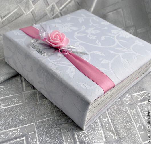 Свадебные фотоальбомы ручной работы. Ярмарка Мастеров - ручная работа. Купить Фотоальбом свадебный ручной работы Розовые мечты Подарок для пары Фото. Handmade.