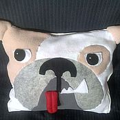 Подушки ручной работы. Ярмарка Мастеров - ручная работа Подушка-игрушка Бульдожка-лежебока. Handmade.
