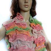 "Одежда handmade. Livemaster - original item Knitted long Vest ""Summer puff ""Colorful"". Handmade."