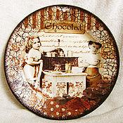 """Посуда ручной работы. Ярмарка Мастеров - ручная работа Тарелка """"Шоколатье"""". Handmade."""