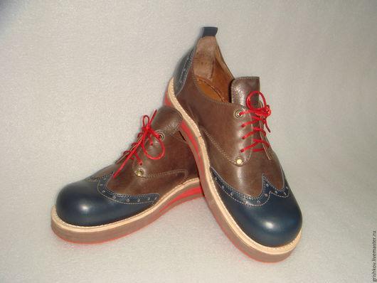 """Обувь ручной работы. Ярмарка Мастеров - ручная работа. Купить Полуботинки мужские """"Magic"""". Handmade. Комбинированный, натуральная кожа, полиуретан"""