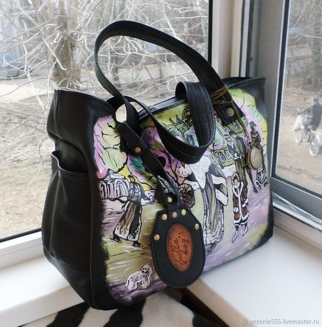 Leather women's bag with painting to order for Anastasia, Classic Bag, Noginsk,  Фото №1