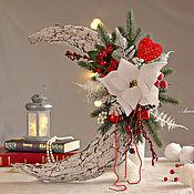 Сувениры и подарки handmade. Livemaster - original item Christmas songs: Wreath on the door, wall
