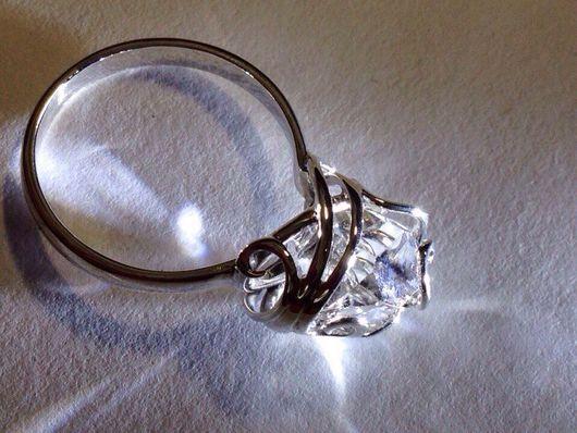 Кольца ручной работы. Ярмарка Мастеров - ручная работа. Купить Кольцо из серебра с Херкимерским алмазом. Handmade. Ручная работа