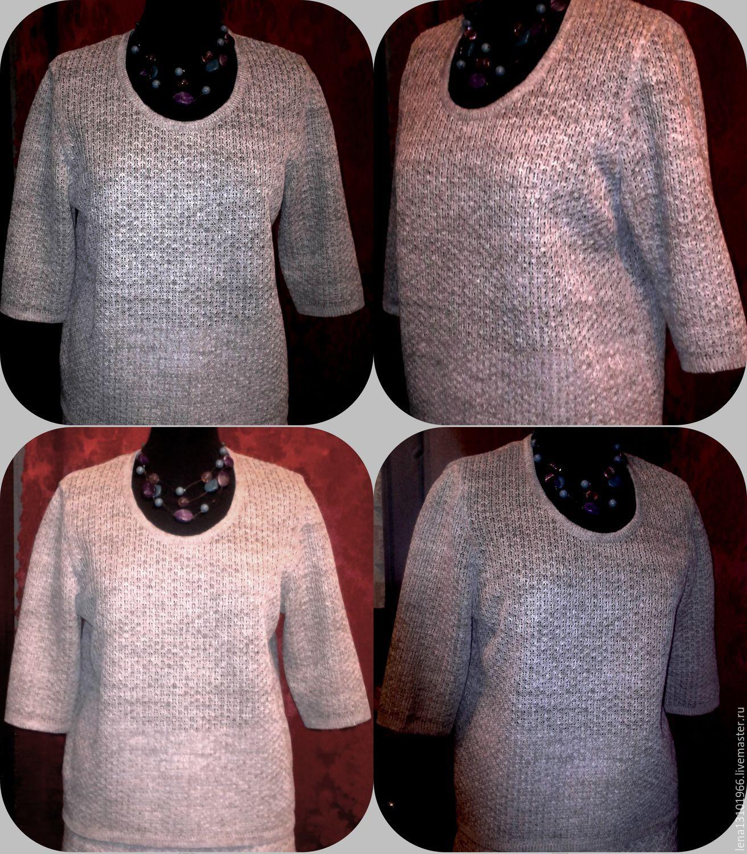 Sweater Jackets & Sweaters handmade. Livemaster - handmade. Buy 100% linen Women's jumper CLASSIC.Machine knitting