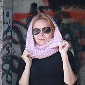 Аксессуары handmade. Livemaster - original item Woolen Snood in two turns pink