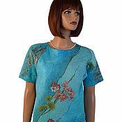 Одежда handmade. Livemaster - original item Felted blouse, tunic made of Merino wool and silk. Handmade.
