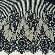 Кружево ручной работы. Ярмарка Мастеров - ручная работа кружево  шантильи черное  150Х300 см , В4. Handmade.