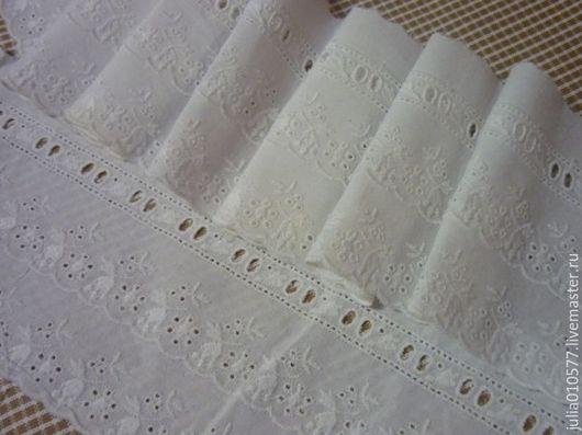 Шитье ручной работы. Ярмарка Мастеров - ручная работа. Купить Кружево шитье хлопок 12,5 см. Handmade. Белый