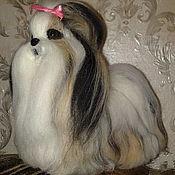 Куклы и игрушки ручной работы. Ярмарка Мастеров - ручная работа собака породы ши-тцу. изготовлена по фото.. Handmade.