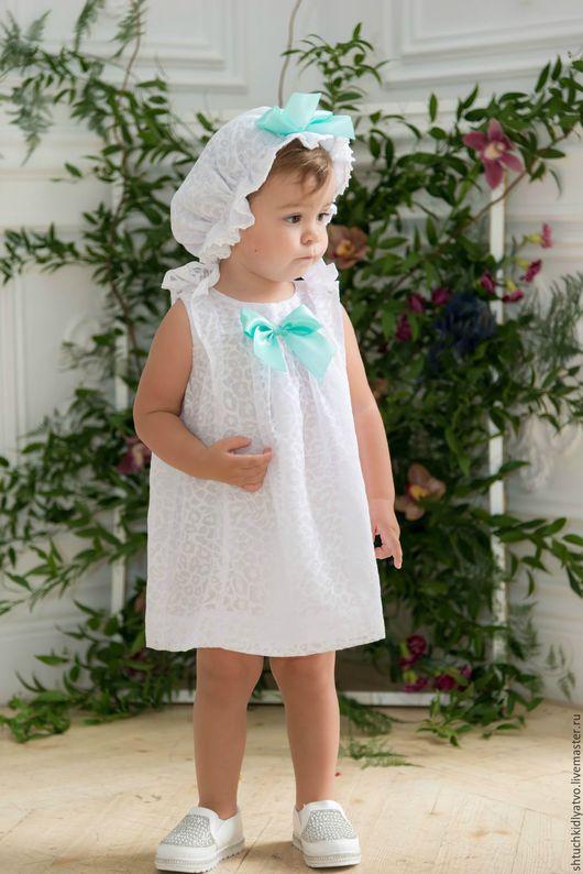 Одежда для девочек, ручной работы. Ярмарка Мастеров - ручная работа. Купить Нежный комплект для малышки. Handmade. Белый, летняя одежда