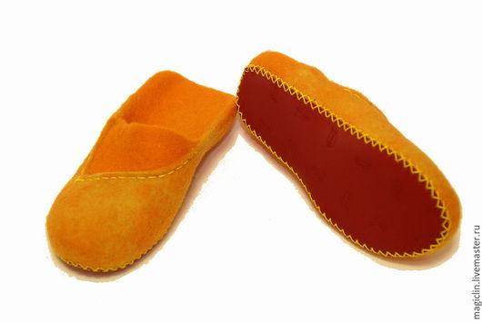 Обувь ручной работы. Ярмарка Мастеров - ручная работа. Купить Тапочки Лисьи лабутены. Handmade. Рыжий, тапки валяные