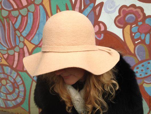 Шляпы ручной работы. Ярмарка Мастеров - ручная работа. Купить Шляпа широкополая кремового цвета. Handmade. Кремовый, шляпа с полями