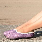 Обувь ручной работы. Ярмарка Мастеров - ручная работа Туфли валяные на подошве. Handmade.